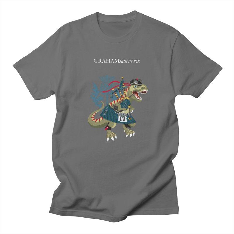 Clanosaurus Rex GRAHAMsauras rex Graham Tartan family Men's T-Shirt by BullShirtCo