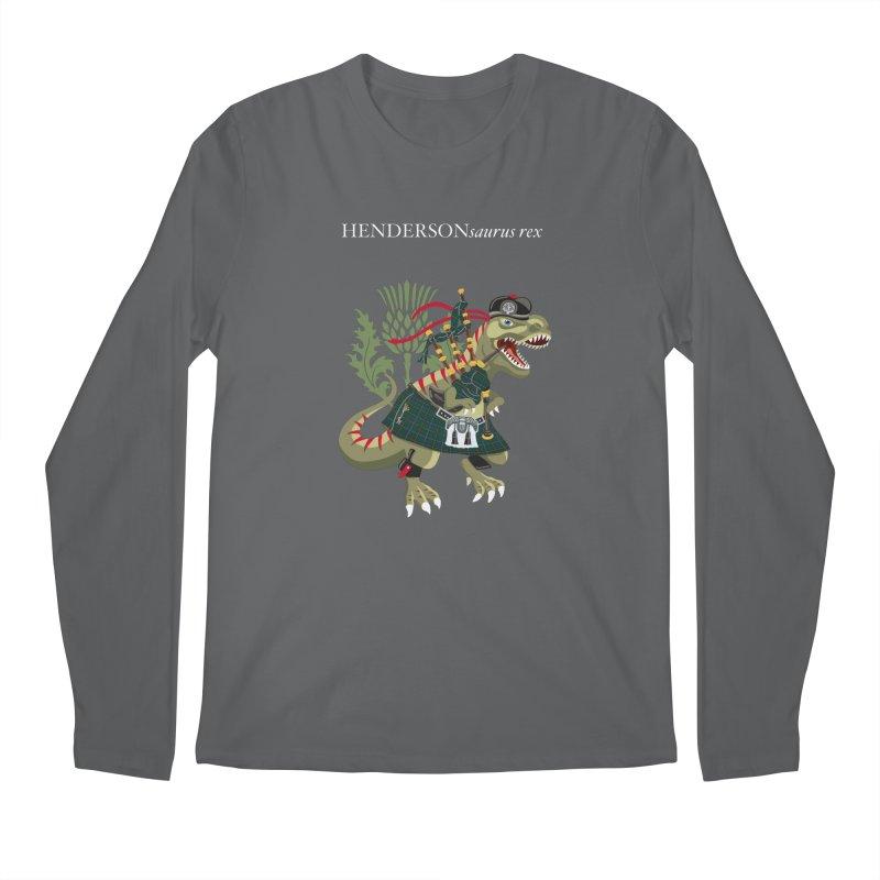 Clanosaurus Rex HENDERSONsaurus rex Henderson Tartan Family Plaid Men's Longsleeve T-Shirt by BullShirtCo