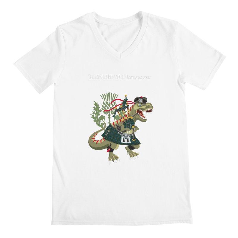 Clanosaurus Rex HENDERSONsaurus rex Henderson Tartan Family Plaid Men's V-Neck by BullShirtCo