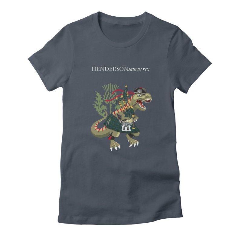 Clanosaurus Rex HENDERSONsaurus rex Henderson Tartan Family Plaid Women's T-Shirt by BullShirtCo