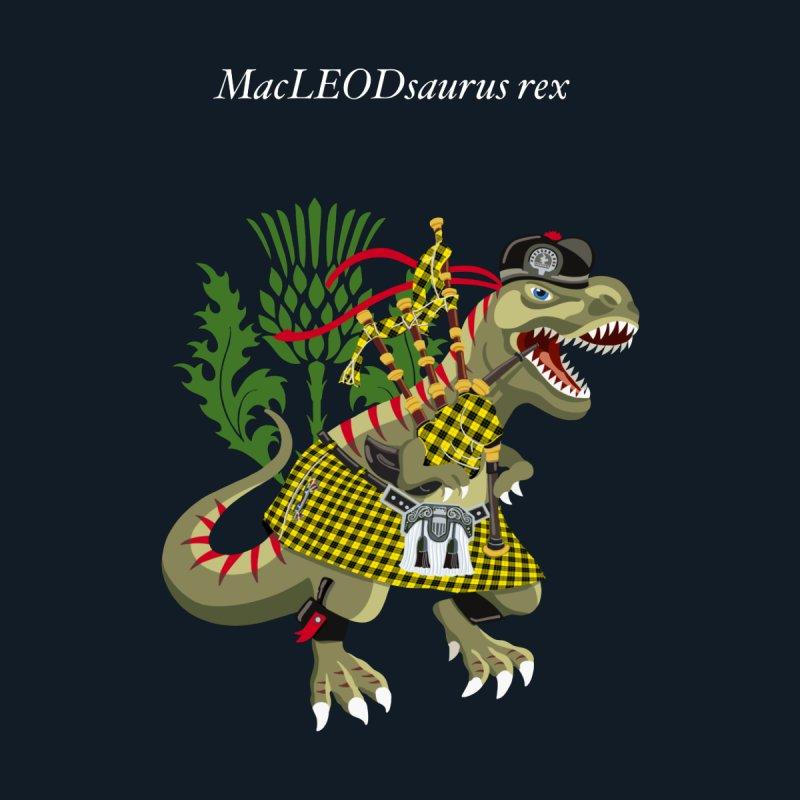 Clanosaurus Rex MacLEODsaurus rex  MacLeod McLeod family Tartan Home Framed Fine Art Print by BullShirtCo