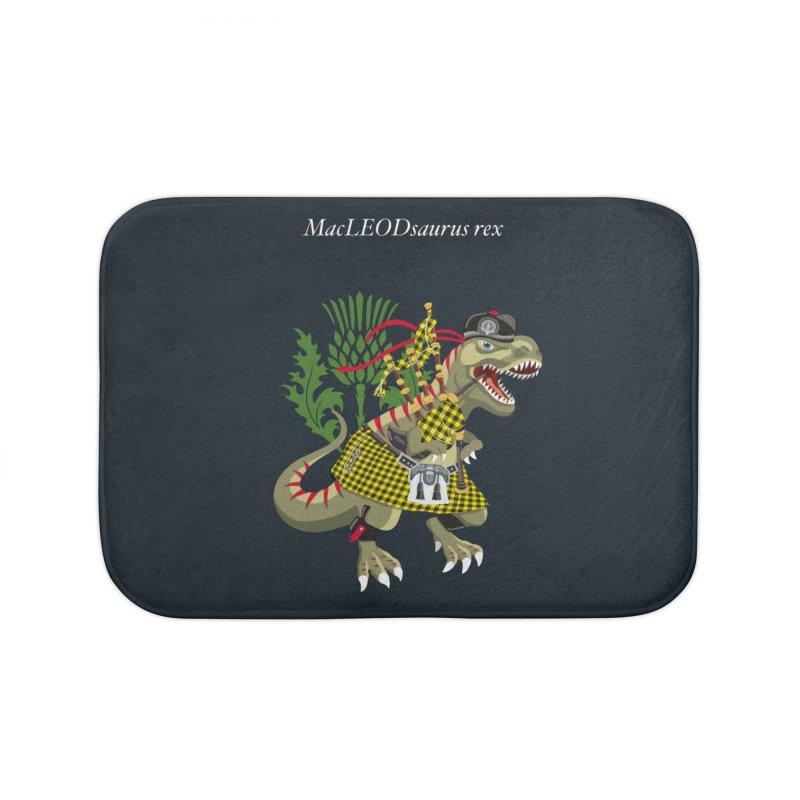 Clanosaurus Rex MacLEODsaurus rex  MacLeod McLeod family Tartan Home Bath Mat by BullShirtCo