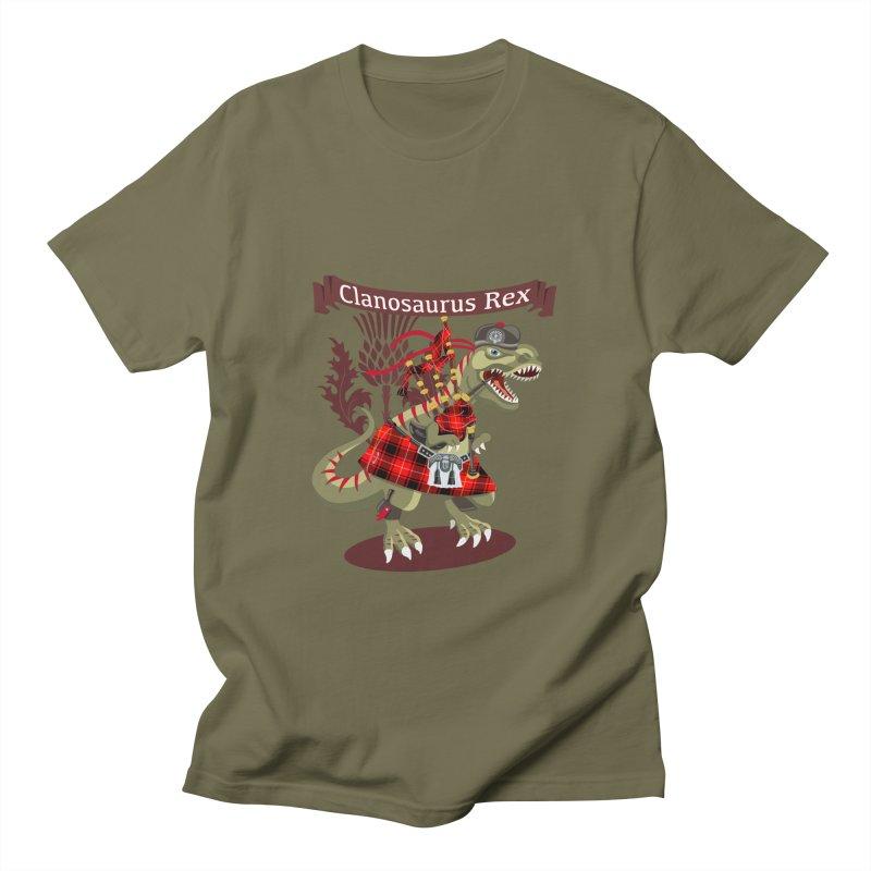 Clanosaurus Rex For All Ye Proud Scottish Irish Tartan lovers! Men's T-Shirt by BullShirtCo