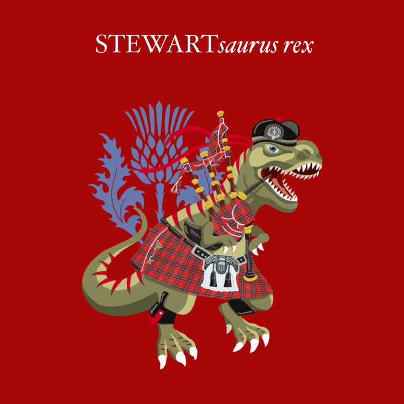 Clanosaurus Rex STEWARTsaurus rex Stewart Tartan Men's T-Shirt by BullShirtCo