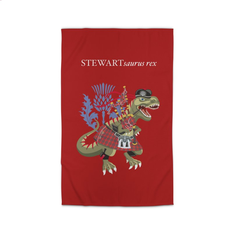 Clanosaurus Rex STEWARTsaurus rex Stewart Tartan Home Rug by BullShirtCo
