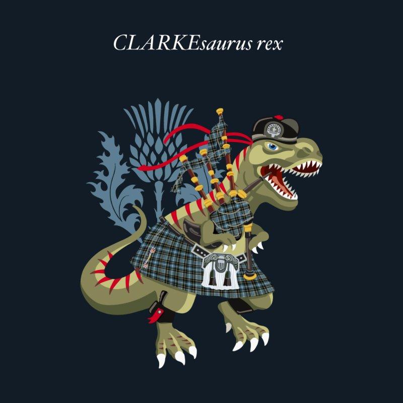 Clanosaurus Rex CLARKEsaurus Rex Clarke Clark Tartan Kids T-Shirt by BullShirtCo