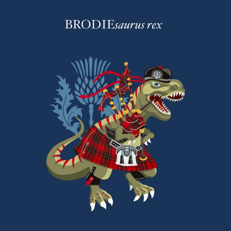 Clanosaurus Rex BRODIEsaurus rex Plaid Family Tartan Men's T-Shirt by BullShirtCo