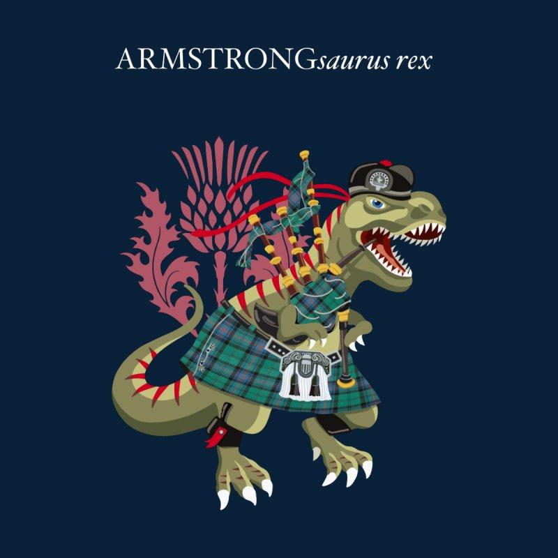 Clanosaurus Rex ARMSTRONGsaurus rex Armstrong Plaid Family Tartan Men's T-Shirt by BullShirtCo