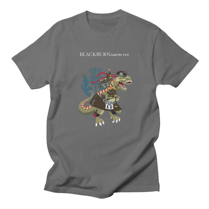 Clanosaurus Rex BLACKBURNsaurus rex Plaid Blackburn Family Tartan Men's T-Shirt by BullShirtCo