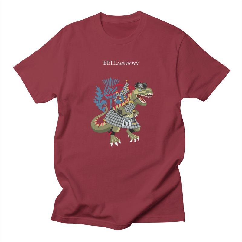 Clanosaurus Rex BELLsaurus rex Plaid Bell Family Tartan Men's T-Shirt by BullShirtCo