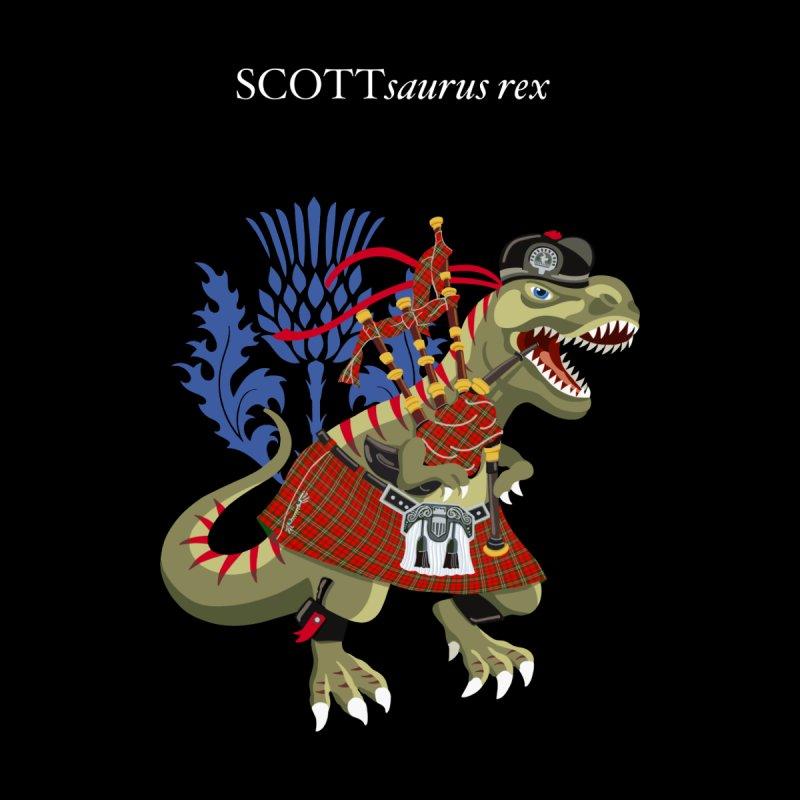 Clanosaurus Rex SCOTTsaurus rex Scott Modern Red Family Tartan Accessories Skateboard by BullShirtCo