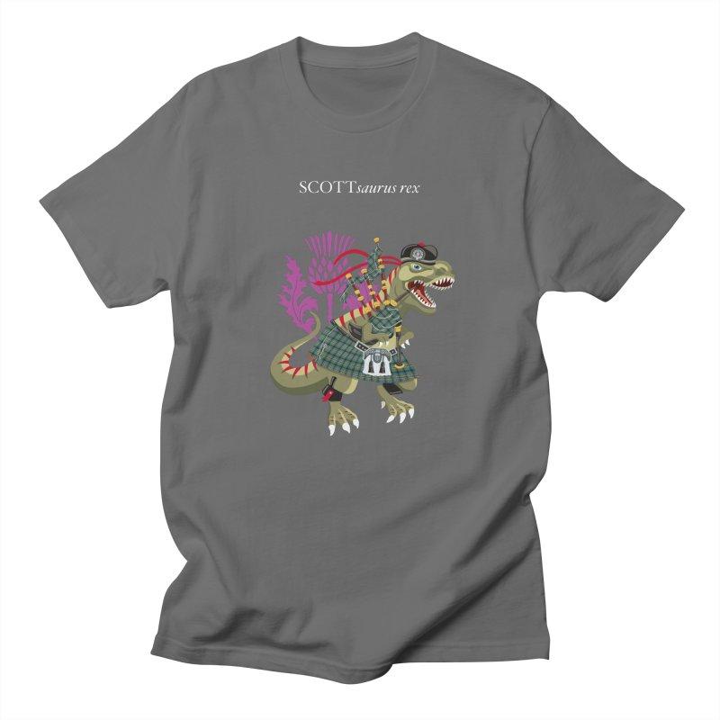 Clanosaurus Rex SCOTTsaurus rex Scott Green Ancient Family Tartan Men's T-Shirt by BullShirtCo