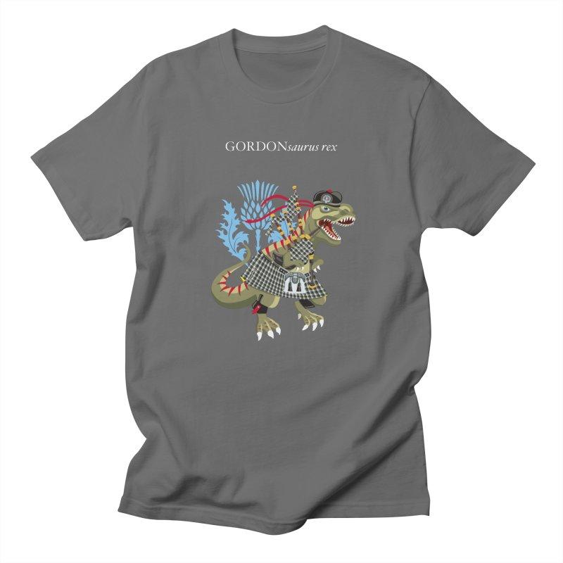 Clanosaurus Rex GORDONsaurus rex Plaid Gordon Family Tartan Men's T-Shirt by BullShirtCo