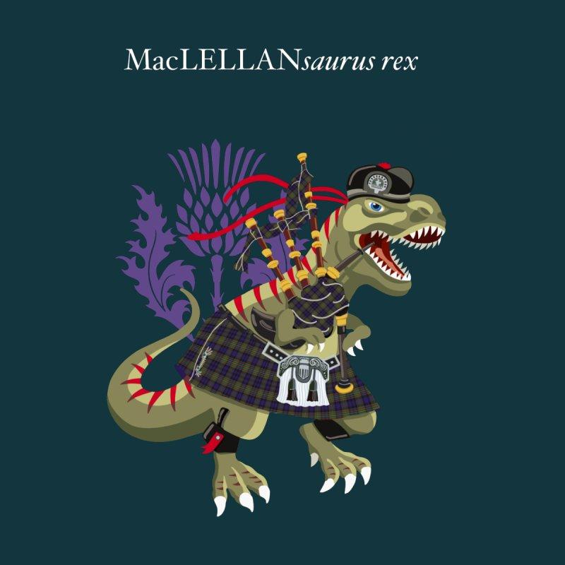 Clanosaurus Rex MacLELLANsaurus rex Plaid MacLellan Family Tartan Men's T-Shirt by BullShirtCo