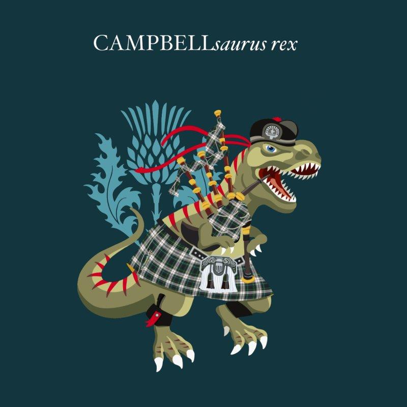 Clanosaurus Rex CAMPBELLsaurus rex Plaid Campbell Modern Family Tartan Kids T-Shirt by BullShirtCo