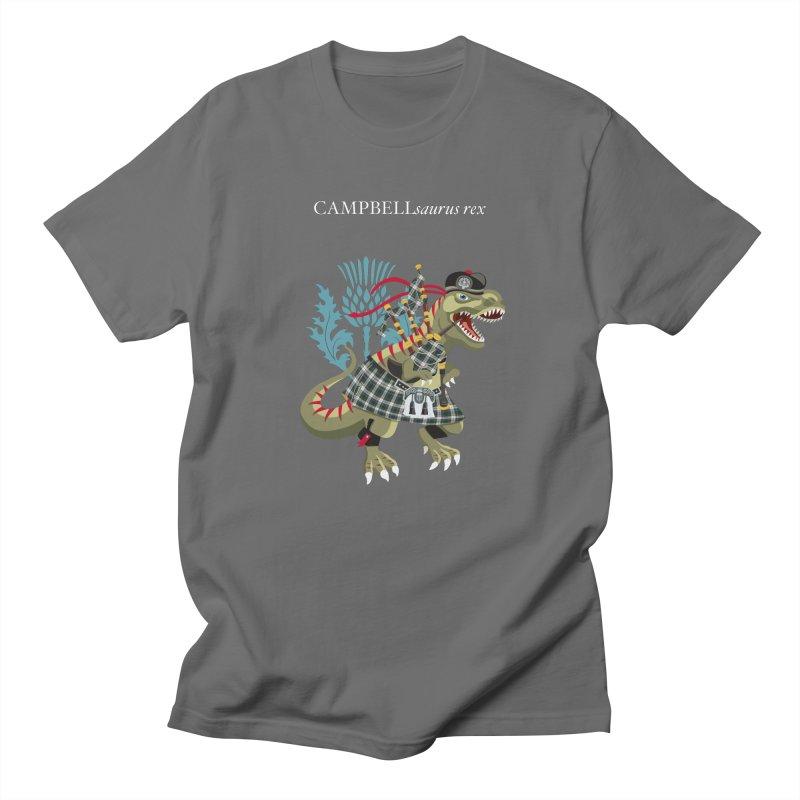 Clanosaurus Rex CAMPBELLsaurus rex Plaid Campbell Modern Family Tartan Men's T-Shirt by BullShirtCo