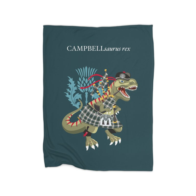 Clanosaurus Rex CAMPBELLsaurus rex Plaid Campbell Modern Family Tartan Home Blanket by BullShirtCo