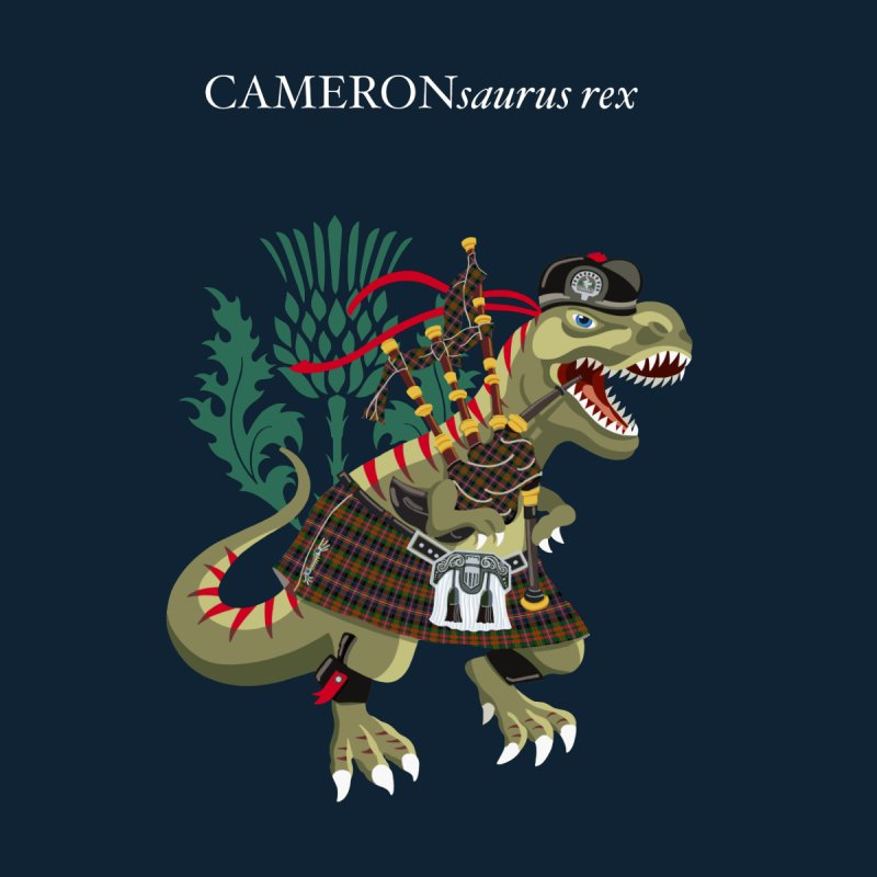 Clanosaurus Rex CAMERONsaurus rex Cameron of Erract Family Tartan Men's T-Shirt by BullShirtCo