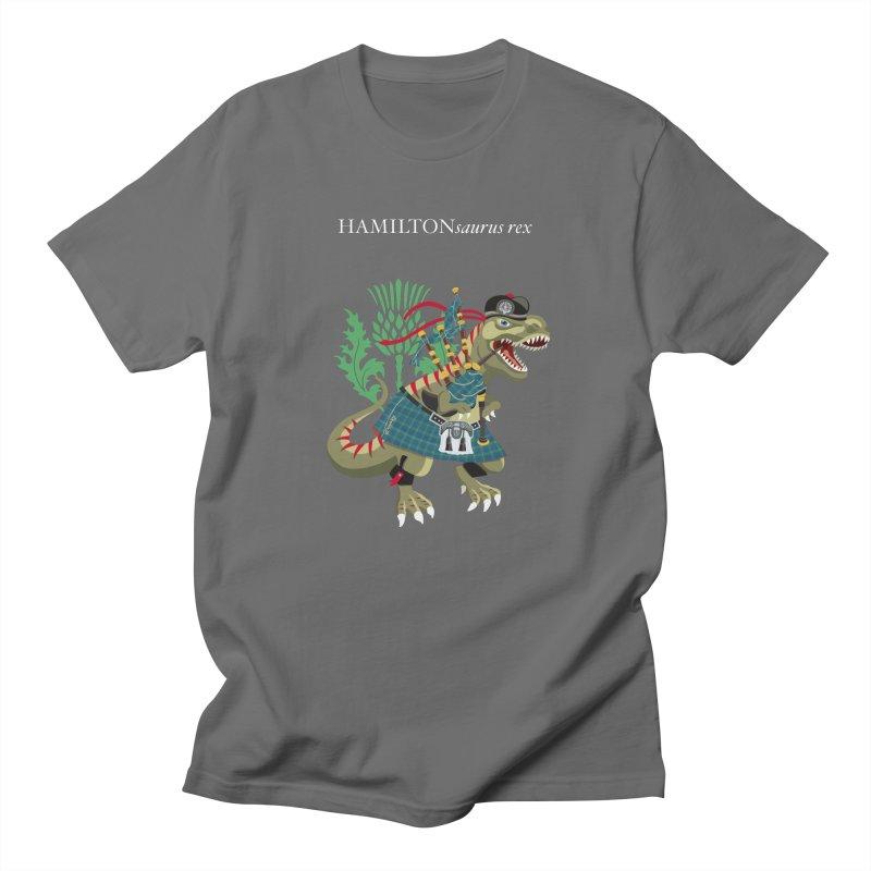 Clanosaurus Rex HAMILTONsaurus rex Hamilton Ancient Blue Family Tartan Men's T-Shirt by BullShirtCo