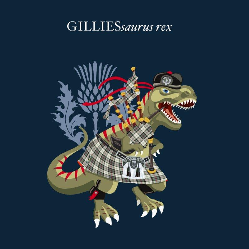 Clanosaurus Rex GILLIESsaurus rex Plaid Gillies Family Tartan Kids T-Shirt by BullShirtCo