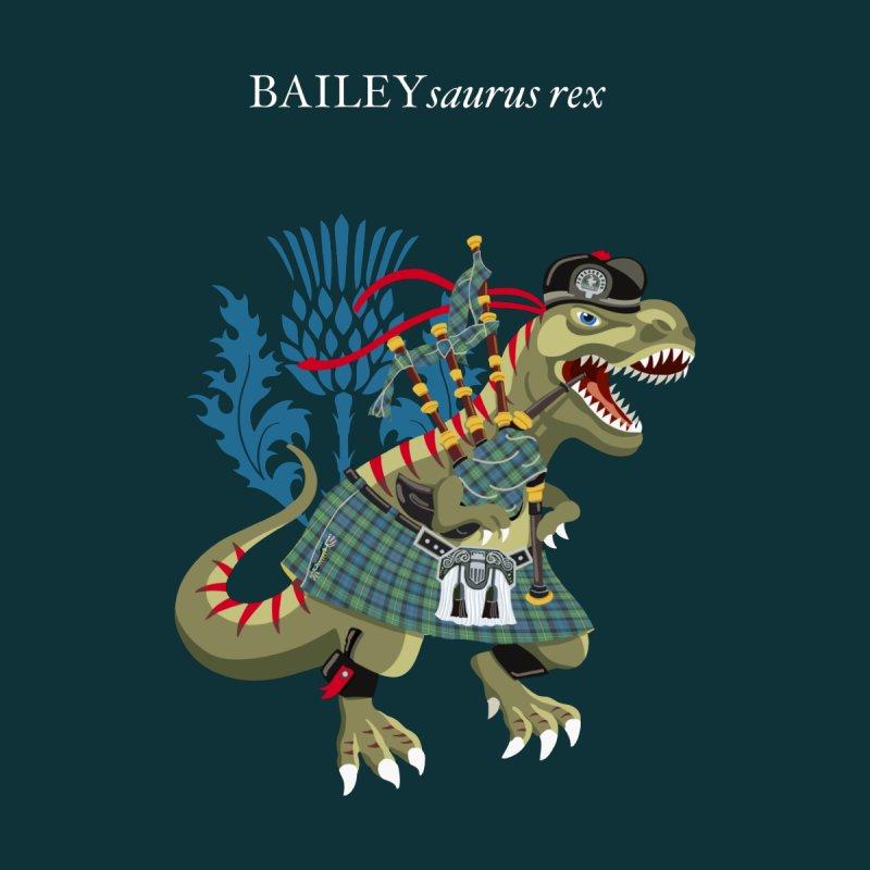 Clanosaurus Rex BAILEYsaurus rex Plaid Bailey Scotland Ireland Family Tartan Men's T-Shirt by BullShirtCo
