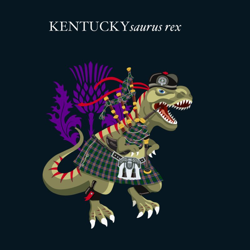 Clanosaurus Rex KENTUCKYsaurus rex Plaid Kentucky USA American Family Tartan Clan Accessories Neck Gaiter by BullShirtCo