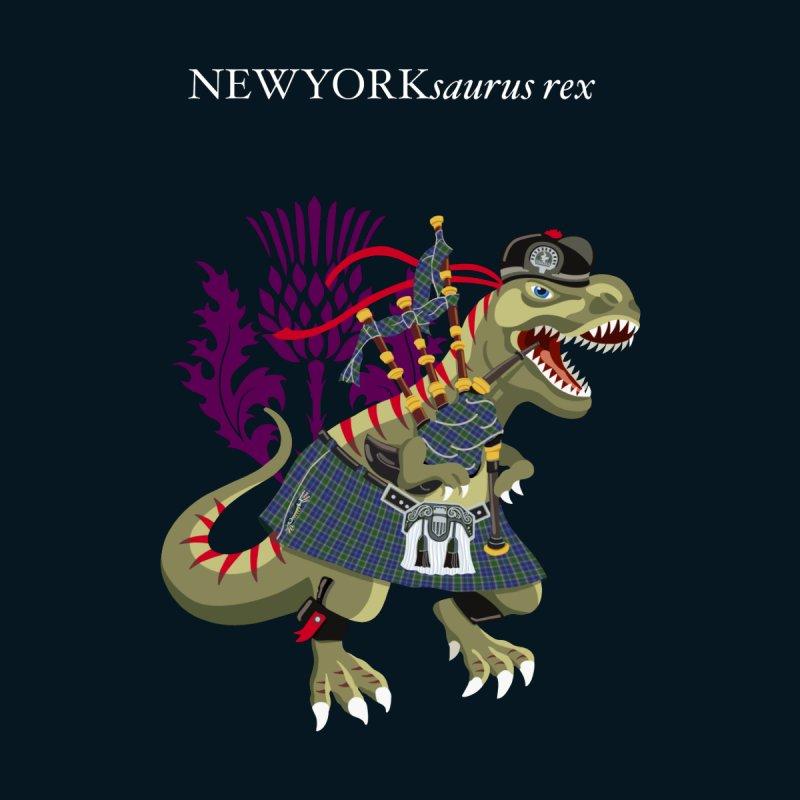 Clanosaurus Rex NEWYORKsaurus rex Plaid New York USA American Family Tartan Clan Men's T-Shirt by BullShirtCo