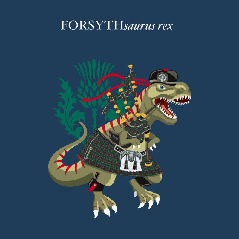 Clanosaurus Rex FORSYTHsaurus rex Plaid Forsyth Scotland Ireland Family Tartan Men's T-Shirt by BullShirtCo