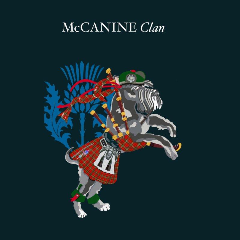 McCANINE Clan Tartan Canine Dog Terrier Puppy Scotland Ireland Pets Men's T-Shirt by BullShirtCo