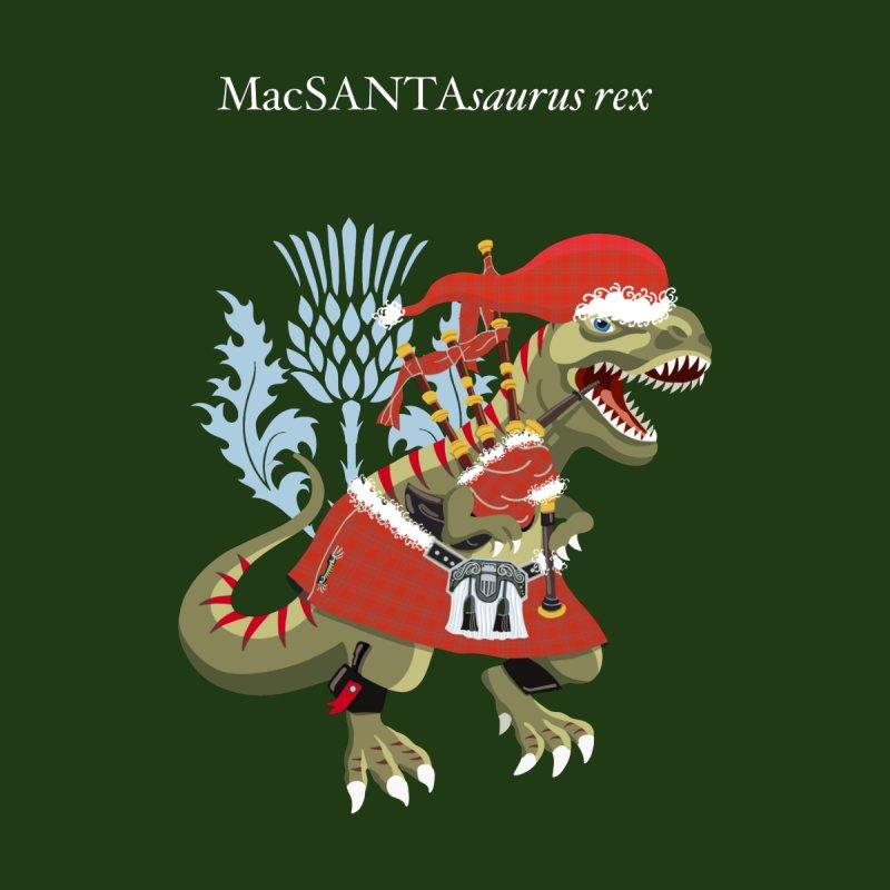 Clanosaurus Rex MacSANTAsaurus rex Plaid MacSanta Scotland Christmas Family Tartan Men's T-Shirt by BullShirtCo