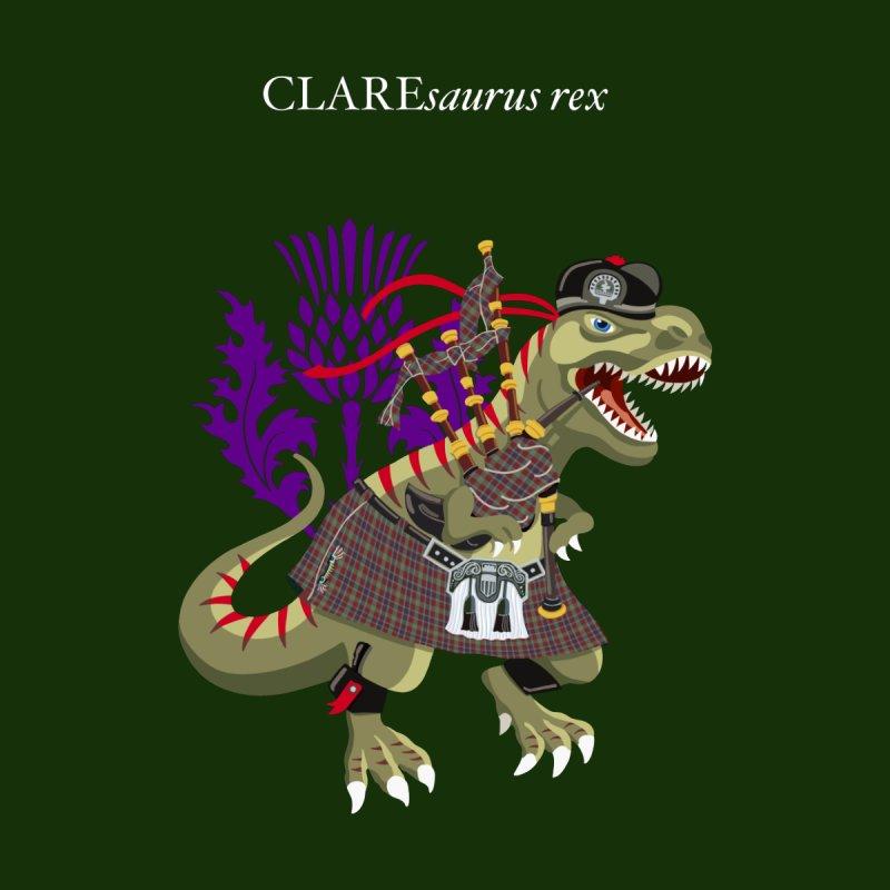 Clanosaurus Rex CLAREsaurus  Plaid Clare Irish Ireland Family Tartan Men's T-Shirt by BullShirtCo