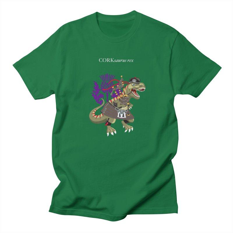 Clanosaurus Rex CORKsaurus Plaid Cork Irish Ireland Family Tartan Men's T-Shirt by BullShirtCo