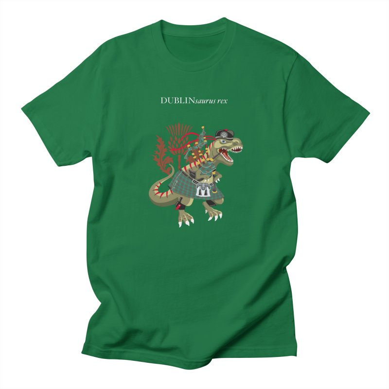 Clanosaurus Rex DUBLINsaurus Plaid Dublin Irish Ireland Family Tartan Men's T-Shirt by BullShirtCo