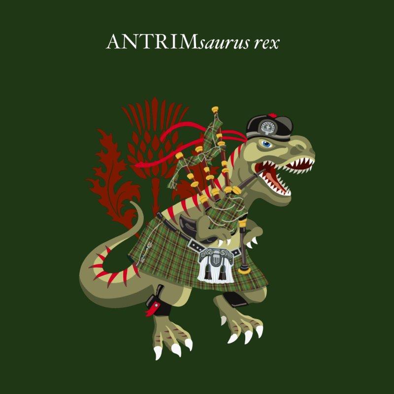 Clanosaurus Rex ANTRIMsaurus Plaid Antrim Irish Ireland Family Tartan Men's T-Shirt by BullShirtCo