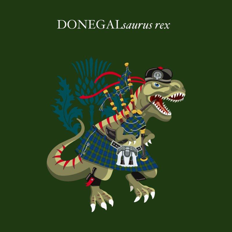 Clanosaurus Rex DONEGALsaurus Plaid Donegal Irish Ireland Family Tartan Men's T-Shirt by BullShirtCo
