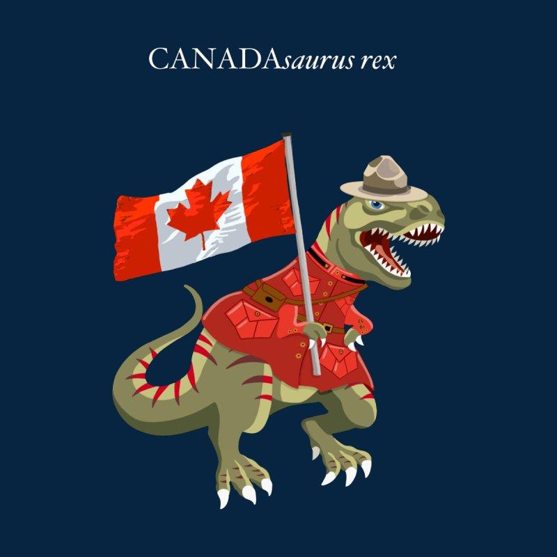 Clanosaurus Rex CANADAsaurus rex Canada Canadian RCMP Flag Tyrannosaurus Rex Men's T-Shirt by BullShirtCo