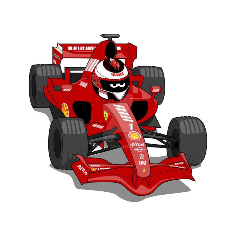Bullymaiden1974 Cartoon F1 Car Kids Baby T Shirt
