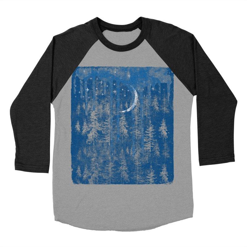 Blue Forest Men's Baseball Triblend Longsleeve T-Shirt by bulo