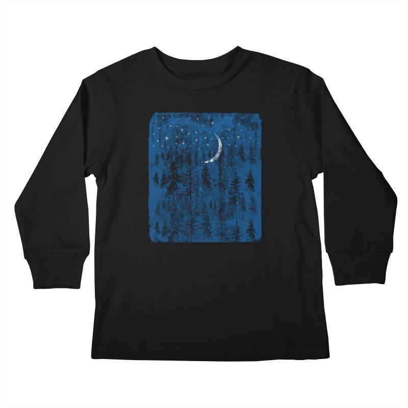Blue Forest Kids Longsleeve T-Shirt by bulo