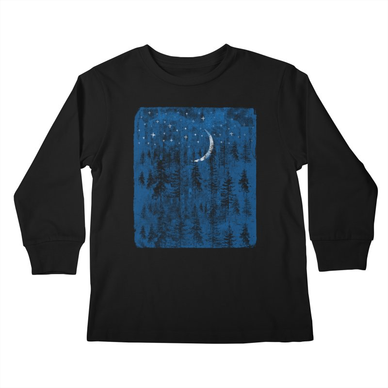 Blue Forest Kids Longsleeve T-Shirt by bulo