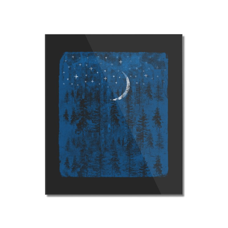 Blue Forest Home Mounted Acrylic Print by bulo