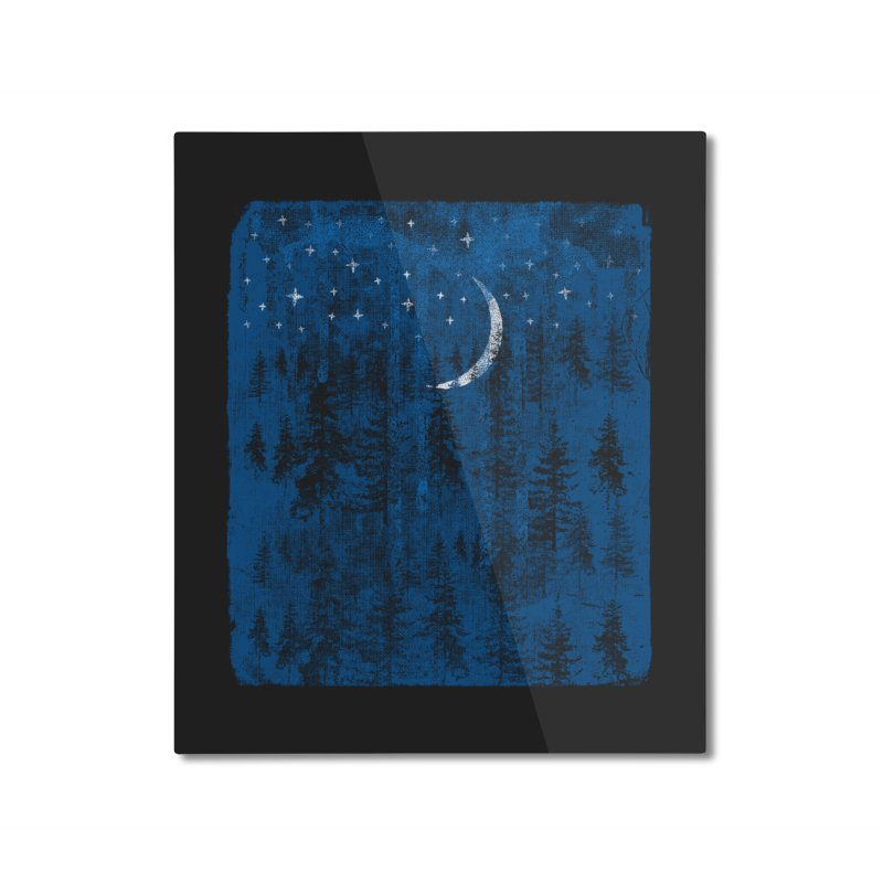 Blue Forest Home Mounted Aluminum Print by bulo