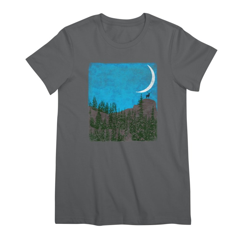 Lonely Deer - Turquoise Night version Women's T-Shirt by bulo