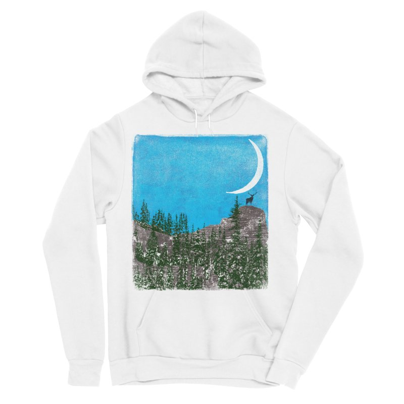Lonely Deer - Turquoise Night version Men's Pullover Hoody by bulo