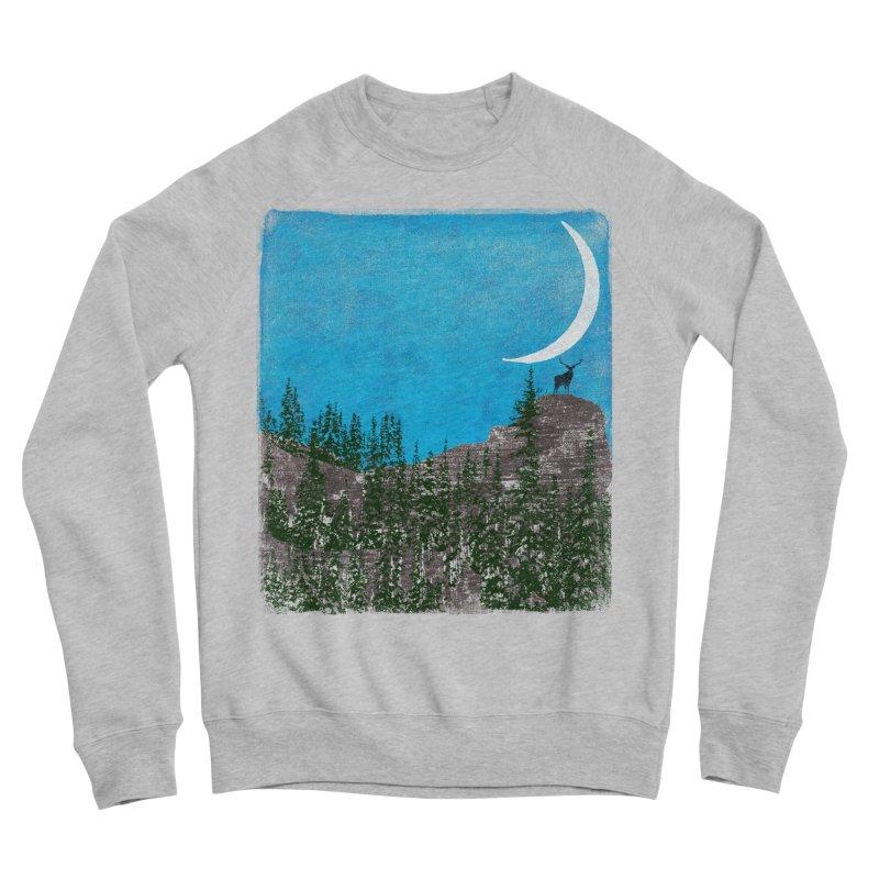 Lonely Deer - Turquoise Night version Men's Sponge Fleece Sweatshirt by bulo