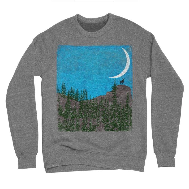 Lonely Deer - Turquoise Night version Women's Sponge Fleece Sweatshirt by bulo