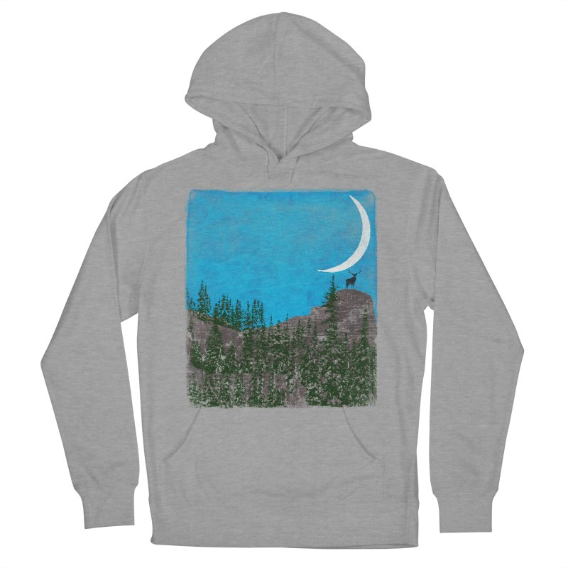 Lonely Deer - Turquoise Night version Women's Pullover Hoody by bulo