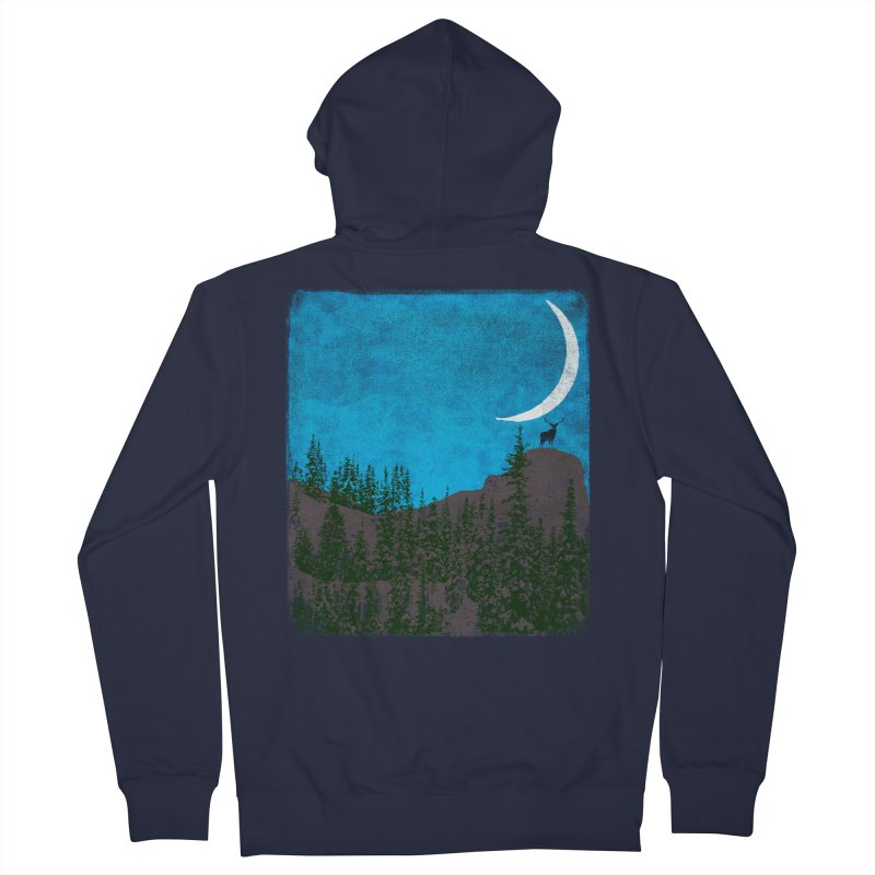 Lonely Deer - Turquoise Night version Women's Zip-Up Hoody by bulo