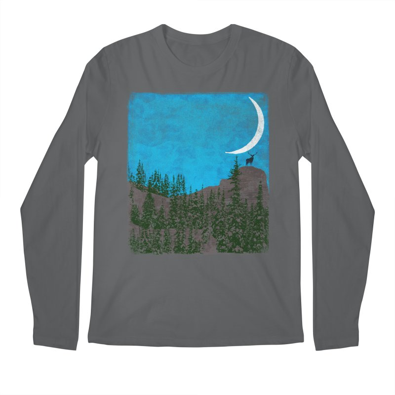 Lonely Deer - Turquoise Night version Men's Longsleeve T-Shirt by bulo
