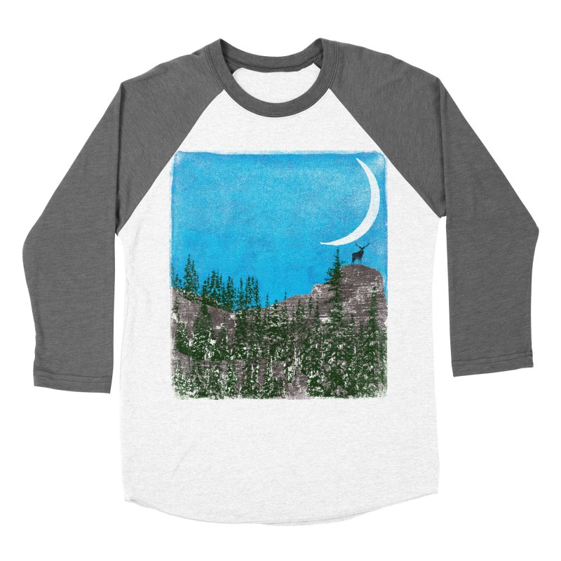 Lonely Deer - Turquoise Night version Women's Longsleeve T-Shirt by bulo